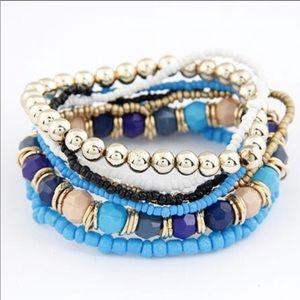 Jewelry - 🔸 Adorable 7 Layer Beaded Bracelet (Blue)🔸